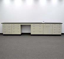 19' Base Laboratory Cabinets w/ Chemical-Resistant Countertops (CV OPEN 5)