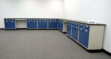 35' Base Laboratory Cabinets w/ Chemical-Resistant Countertops (C304)