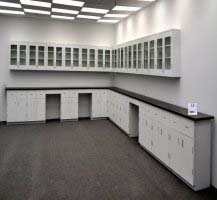39' Base x 36' Wall Laboratory Cabinets w/ Industrial Grade Tops (LS OPEN 1)
