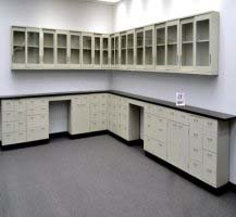 38' Base & 34' Wall Laboratory Cabinets w/ Base Counter Tops (CV OPEN 2)