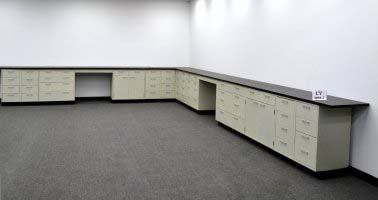 38' Base Laboratory Cabinets w/ Industrial-Grade Countertops (CV OPEN 1)