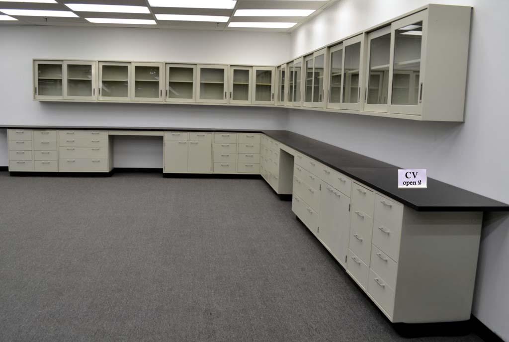 38 base amp 34 wall laboratory cabinets w base counter tops cv