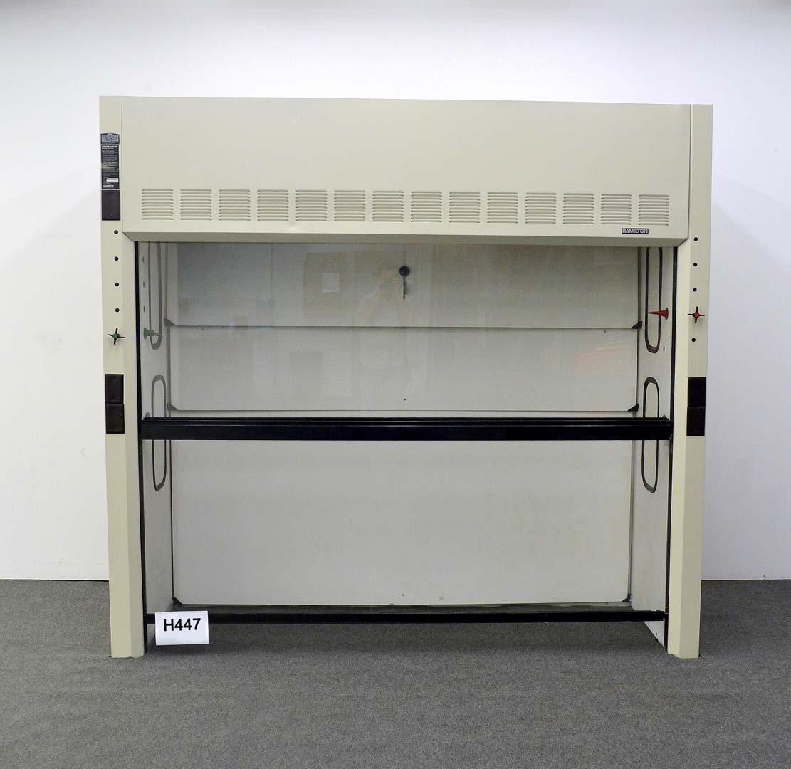 8′ HAMILTON WALK IN LABORATORY CHEMICAL FUME HOOD H447