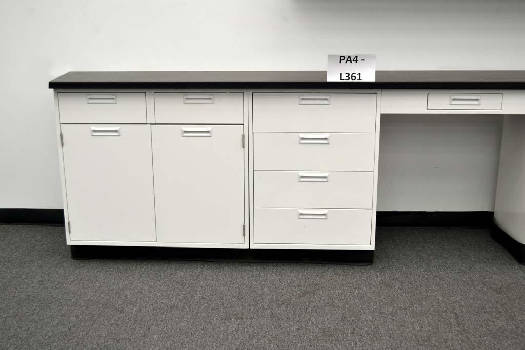 Fisher Cabinets #9 - 34u2032 Fisher American Base Laboratory Cabinets U0026 29u2032 Wall Cabinets W/ Tops  (pa4-L361)