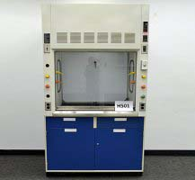 4' Fisher Hamilton Chemical Laboratory Fume Hood (H501)