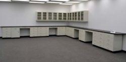 43' Base Laboratory Cabinets & 18' Wall Cabinets (L357)