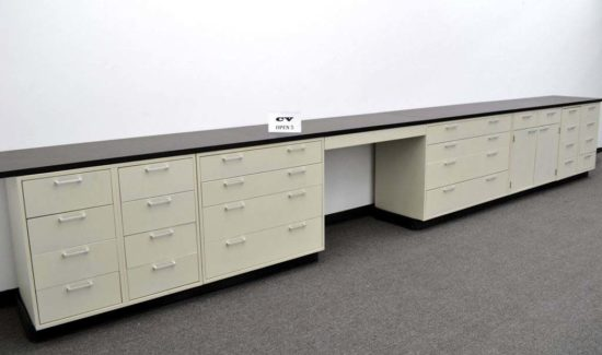 15' Base Laboratory Cabinets w/ Chemical-Resistant Countertops (CV OPEN5)