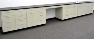 19' Base Laboratory Cabinets w Chemical Resistant Counter Tops -(CV OPEN 5)