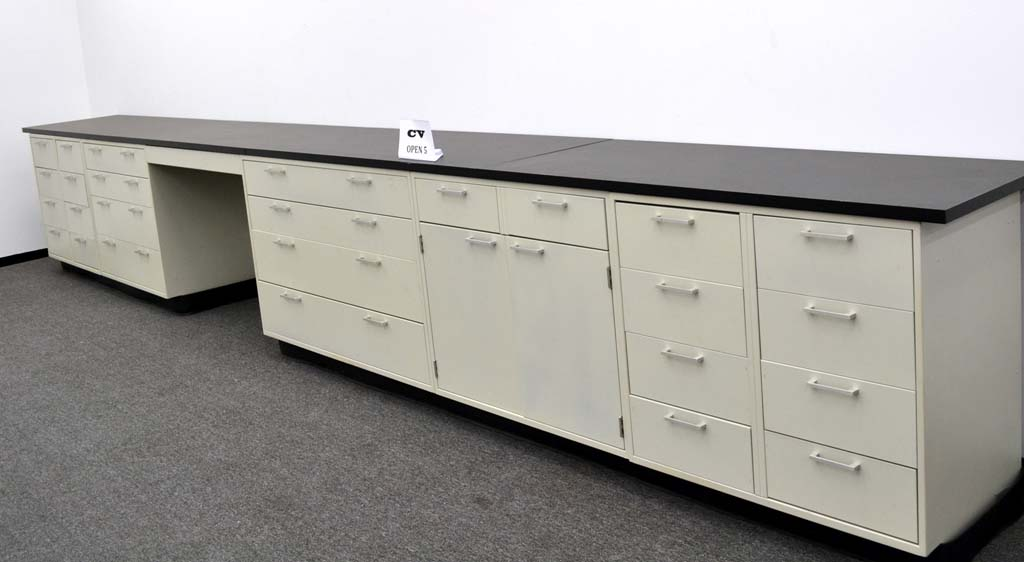 15 u0026 39  base laboratory cabinets w   chemical resistant counter tops  cv open5