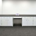 29' Island Base Laboratory Cabinets with Industrial Grade Counter Tops (LSOPEN3)