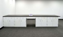 29' Island Base Laboratory Cabinets w/ Industrial Grade Counter Tops (LS OPEN 3)