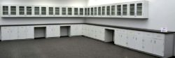36' Wall & 39' Base Laboratory Cabinets / Furniture w/ Countertops (LS OPEN1)