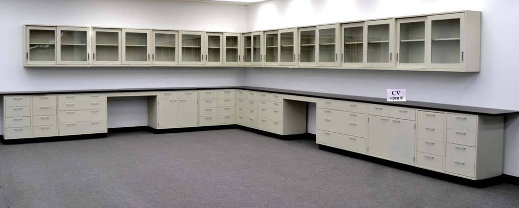 38 u0026 39  base  u0026 34 u0026 39  wall laboratory cabinets w   base counter tops  cv open 2