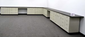 38' Base Laboratory Cabinets w Industrial Grade Counter Tops (CV OPEN1)