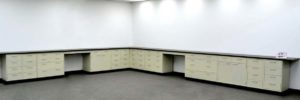 38' Base Laboratory Cabinets w Industrial Grade Counter Tops (CVOPEN 1)