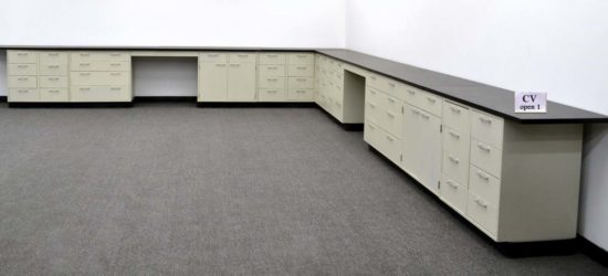38' Base Laboratory Cabinets w/ Industrial Grade Countertops (CV OPEN 1)