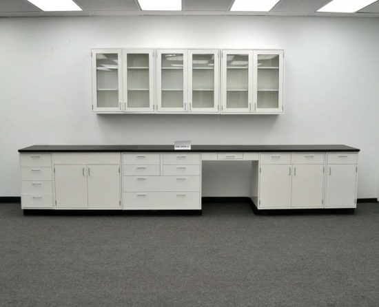 15' Base Fisher Hamilton Laboratory Cabinets & 9' Wall Cabinets (PA3-OPEN 2)
