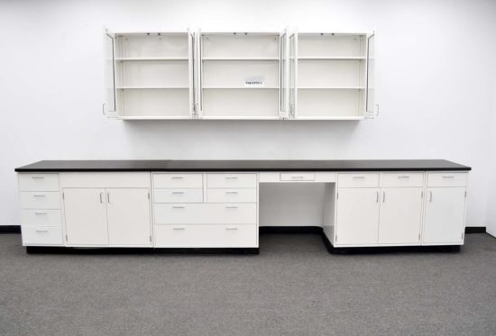 15' Base Fisher American Laboratory Cabinets & 9' Wall Cabinets (PA3-OPEN 2)