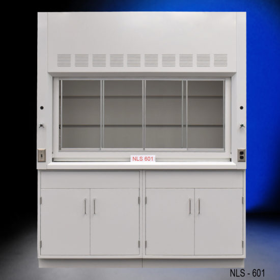 6' Fisher American Chemical Fume Hood w/ Epoxy Work Surface and Base Cabinets (NLS-601)