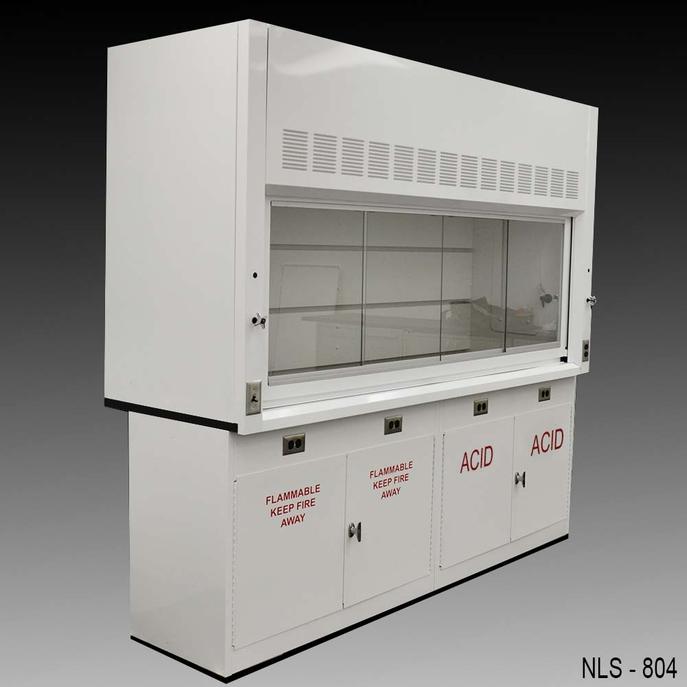 8 Fume Hood W Flammable Amp Acid Cabinets New Nls 804 Nls