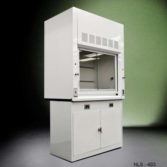 4' Fisher American Lab Fume Hood w/ General Storage Cabinet