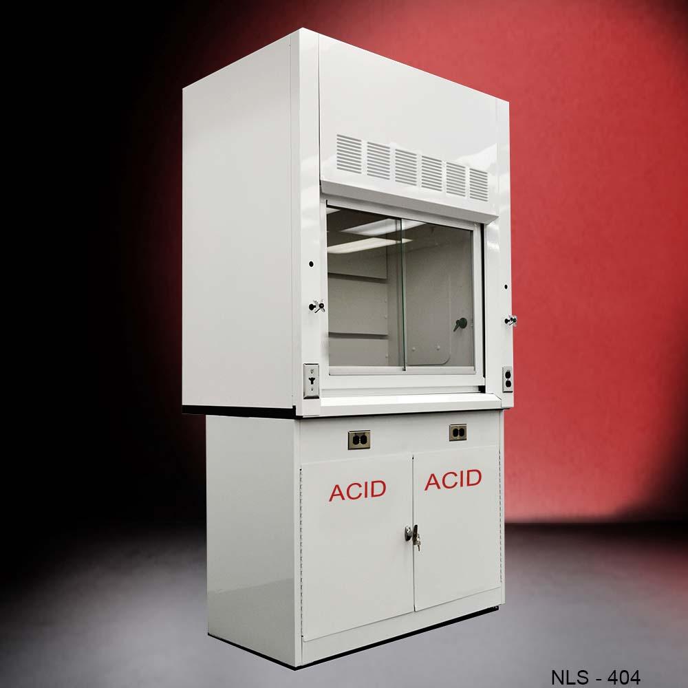 4u2032 Chemical Fume Hood W/ Acid Base Cabinet (NLS 404)