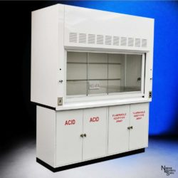 6' Fisher American Chemical Laboratory Fume Hood w/ Flammable & Acid Storage Cabinets (NLS-604)