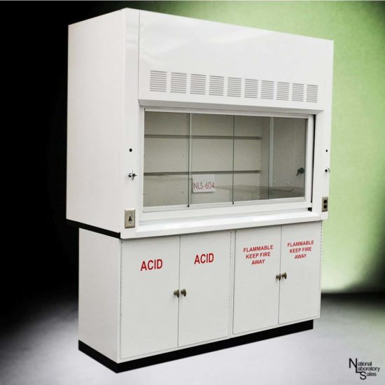 6' Fisher American Chemical Fume Hood w/ Flammable & Acid Storage Cabinets (NLS-604)