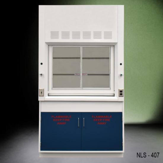 4' Chemical Laboratory Fume Hood w/ Flammable Storage Cabinet (NLS-407)