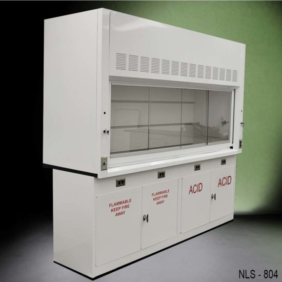 8' Fume Hood w/ Flammable & Acid Storage Cabinets (NLS-804)