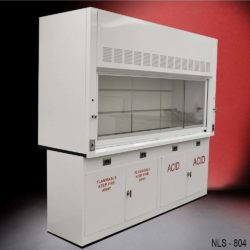 8' Fisher American Fume Hood w/ Flammable & Acid Cabinets (NLS-804)