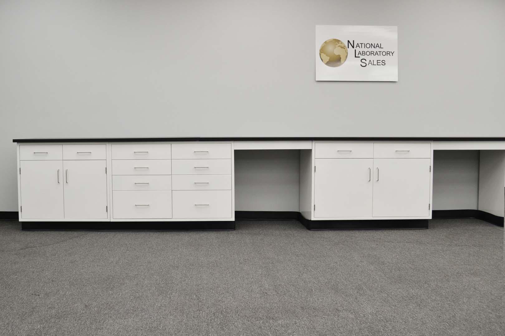 Awesome Fisher Cabinets #21 - 22u2032 X 15u2032 Fisher American Base Laboratory Cabinets With Desks
