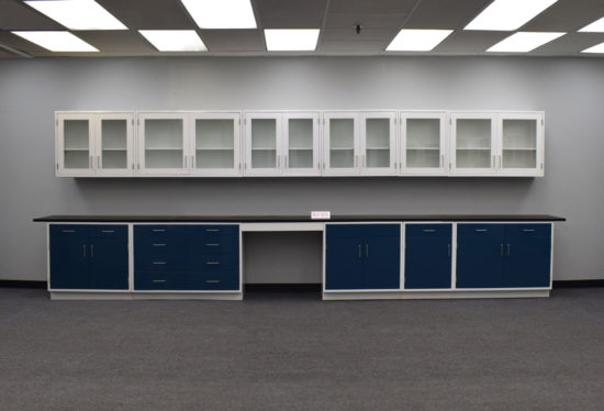 19' Base x 19' Wall Laboratory Cabinets w/ Desks & Industrial Grade Countertops