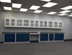 19' Base x 19' Wall Laboratory Cabinets w/ Desks