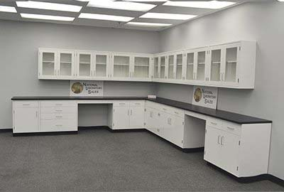 29' Base x 24' Wall Fisher American Laboratory Cabinets