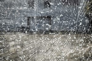 shattered fume hood glass