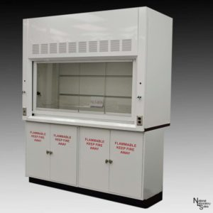 6 ft laboratory fume hood with flammable cabinets
