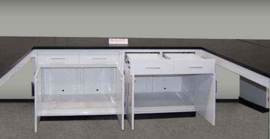 Fisher American Laboratory Cabinet Group w/ Two Peninsulas