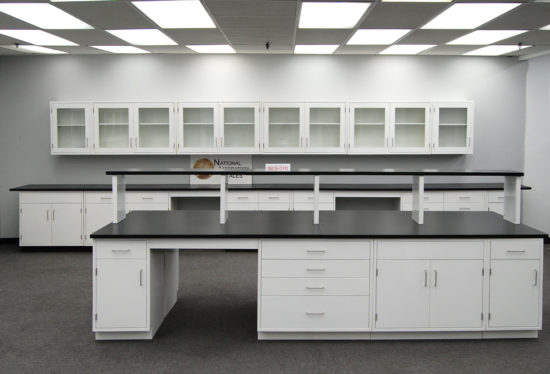 Fisher American Laboratory Island w/ Center Shelf