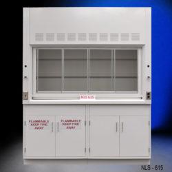 6' Fisher American Fume Hood w/ Flammable & General Cabinet Storage (NLS-615)