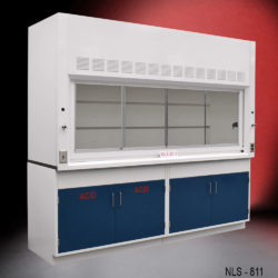 8' Fisher American Fume Hood w/ Acid & General Storage Cabinet (NLS-811)