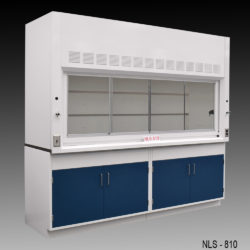 8' Fisher American Fume Hood w/ General Storage Cabinets (NLS-810)