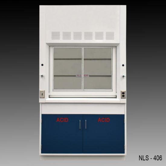 4' Laboratory Fume Hood w/ Acid Storage Cabinet (NLS-406)