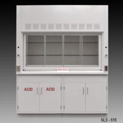 6' Fisher American Fume Hood w/ Acid & General Storage Cabinets (NLS-616)