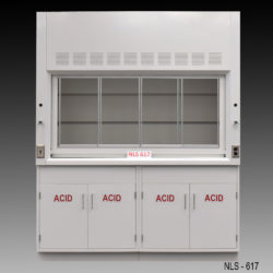6' American Scientific Fume Hood w/ Acid Storage Cabinets (NLS-617)
