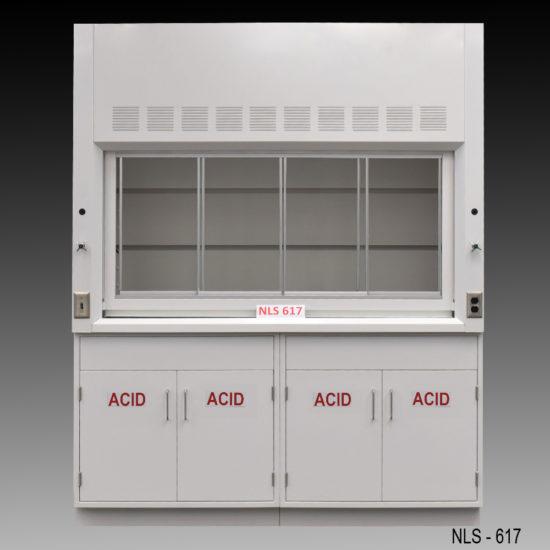 6' American Scientific Fume Hood w/ Acid Storage Cabinets (NLS-617)