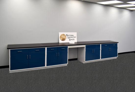 17′ Fisher American Laboratory Cabinets w/ Desk (SLS 019)