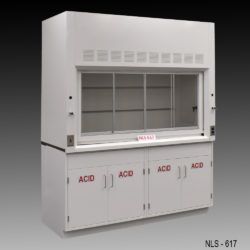 6' Fisher American Chemical Laboratory Fume Hood w/ Acid Storage Cabinets (NLS-617)
