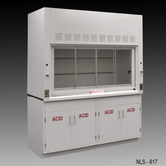 6' Fisher American Chemical Laboratory Fume Hood w/ Acid Storage Cabinets (NLS-617)