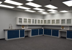 38' Base x 33′ Wall Fisher American Cabinets w/ Sink & Desks